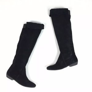 Nine West NW Sitcom Tall Suede Boot Knee High